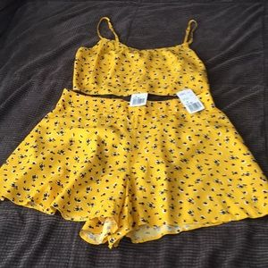 Brand new. Crop top and shorts set